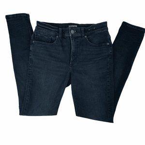 Express Jeans Size 6 Leggings Dark Wash Low Rise
